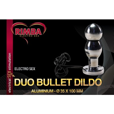 Electro Sex Dildo dubbele kogel, bi-polair (100 mm)