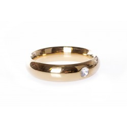 Gold Donut Cockring with Jewel