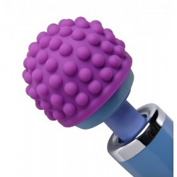 Purple Massage Bumps Silicone Attachment - Opzetstuk