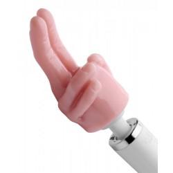 Pleasure Pointer Two Finger Wand Attachment - Opzetstuk