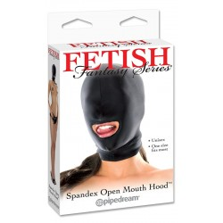 Spandex Open Mouth Hood - Black