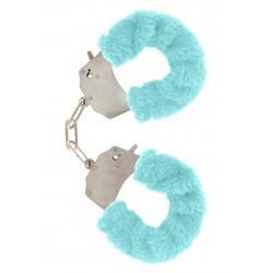 Furry Fun Cuffs Pale Blue Plush
