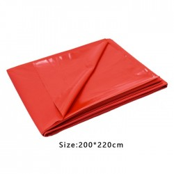 PVC Bed Sheet Cover - Red