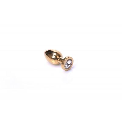 Jewel Buttplug Gold (Diverse maten)