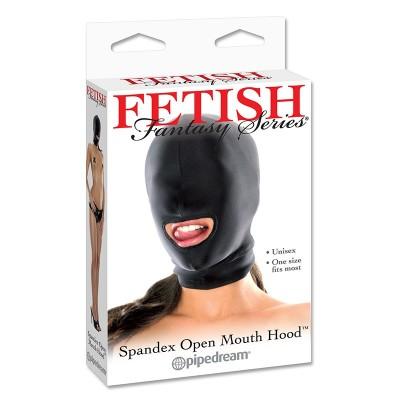 Spandex Open Mouth Hood - Black
