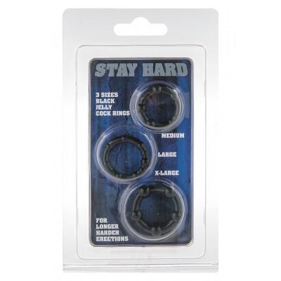 Stay Hard - Three Rings - Black