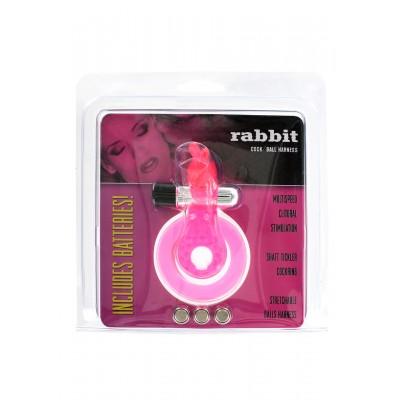 Cock & Ball Ring Rabbit Jelly Vibrator