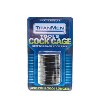 Titanmen Cock Cage Black