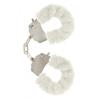 Furry Fun Cuffs White Plush