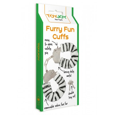 Furry Fun Cuffs Zebra Plush