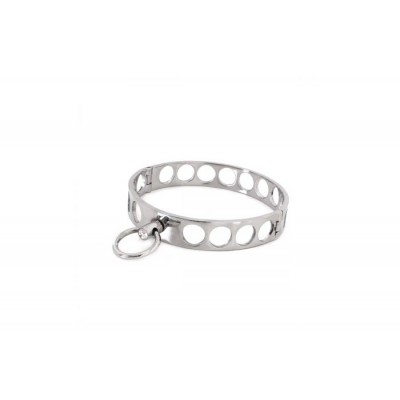 Steel Collar Open Circles L 13.5 cm