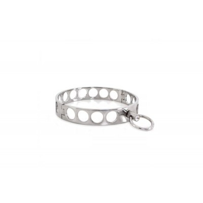 Steel Collar Open Circles L 13.5 cm